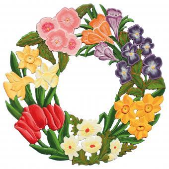 Anhänger: Frühlingskranz (Wandbild, groß)