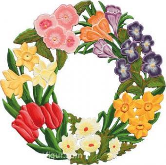 Ornament: Spring Wreath small