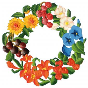 Ornament: Summer Wreath, large