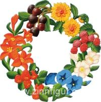 Ornament: Summer Wreath, small