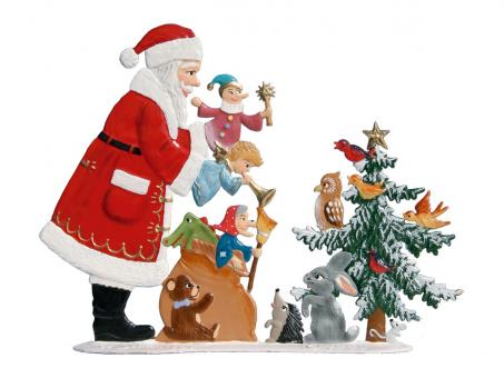 Weihnachtsmann mit Puppenspiel