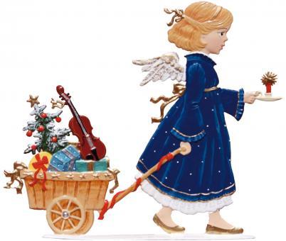Engel mit einem Handwagen
