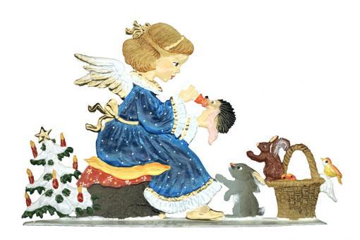 Angel Feeding Young Animals