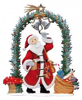 Der Weihnachtsmann läutet am Weihnachtstor