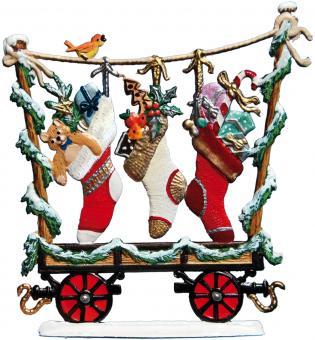 Eisenbahn-Wagen: Weihnachtsstrümpfe