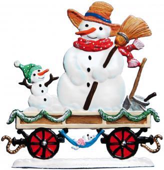 Railway Wagon: Snowman
