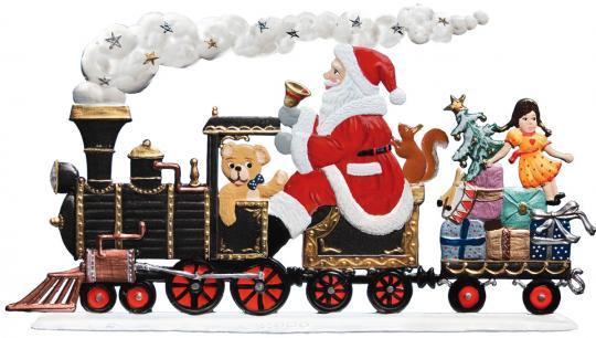 Lokomotive, Weihnachtsmann als Zugführer