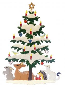 Christmas Tree with Forrest Animals