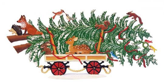 Eisenbahn-Wagen: Weihnachtsbaum