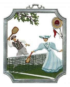 Wandbild: Tennisspieler, Paar