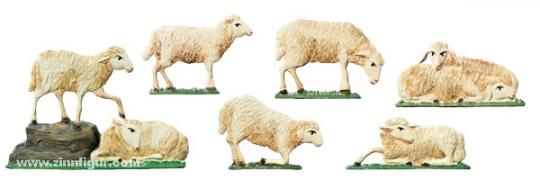 Flock of Sheep (7 sheeps)