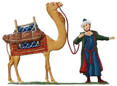 Diener mit Kamel