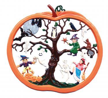 Wandbild: Halloweenbaum