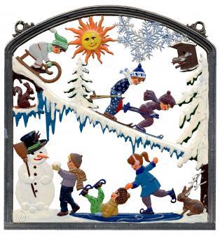 Wandbild: Winterfreuden -Kindermotive-