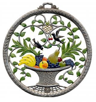 Wandbild, Obstkorb, rund