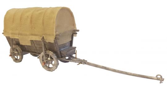 Hussitischer Trosswagen mit Plane