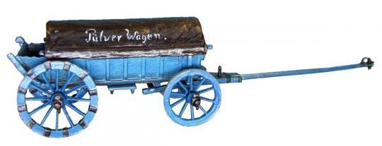 Preußischer Pulverwagen (plastisches Metallmodell