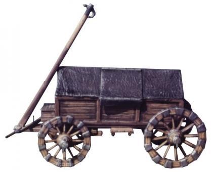 Pulverwagen mit Satteldach