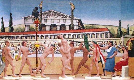 Klein-Diorama: Olympische Spiele