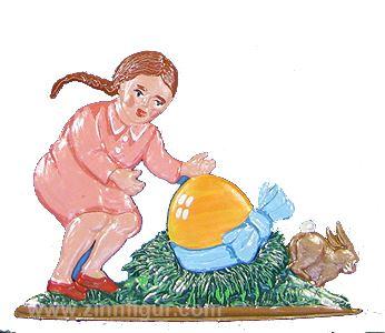 Mädchen mit Osternest