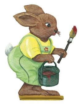 Easter Bunny is painting