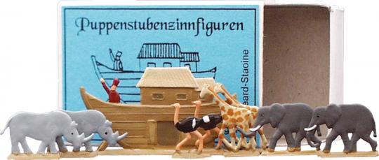 Puppenstuben-Zinnfiguren: Die Arche-Noah