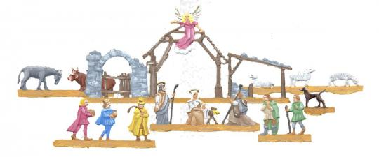 Nativity Szene (Dollhouse-Figures)