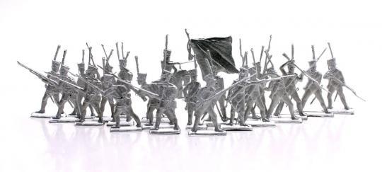 Russische Infanterie im Karree - Profil - 1812-13