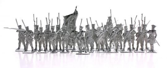 Russische Infanterie im Karree - Frontal - 1812-13