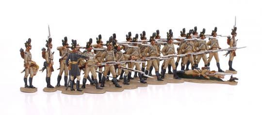 Grenadiere ladend und feuernd