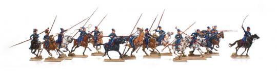 Russische Kosaken im Angriff - 1812-15