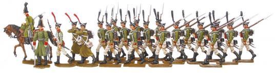Russische Garde-Grenadiere im Vorgehen