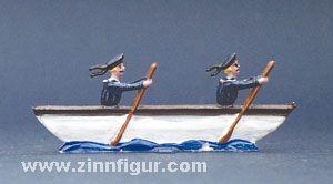 Ruderboot mit rudernden Matrosen