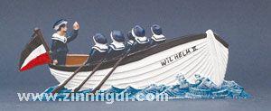 "Matrosenboot ""Wilhelm II."" mit Matrosen"
