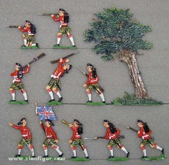 Infanterie im Gefecht (im Schottenrock)