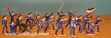 18 Matrosen im Gefecht