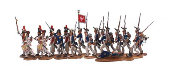 Polnische Infanterie im Gefechtsmarsch 1807-1814
