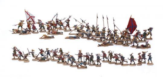 Infanterie im Gefecht - 30-jähriger-Krieg