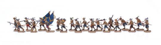 Infanterie im Marsch - 30-jähriger-Krieg