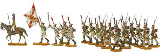 Russische Infanterie im Gefechtsanmarsch