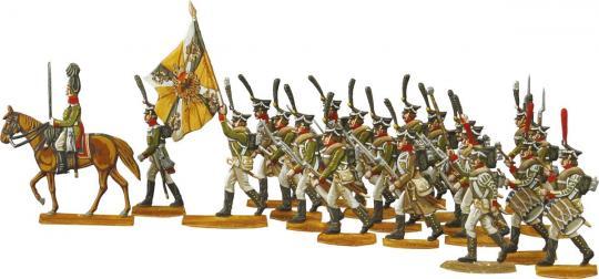 Russische Infanterie vorgehend