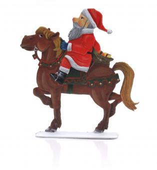 Weihnachtsmann zu Pferd