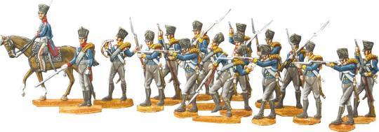 Preußische Infanterie plänkelnd