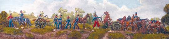 Kosaken-Artillerie mit halbplastischen Geschütz