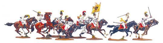 Österreichische Kürassiere im Angriff