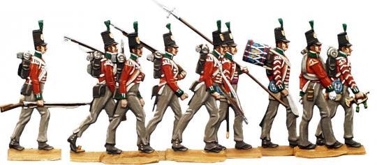 Britische Linieninfanterie im Marsch, Spanienfeldzug, 1808/13