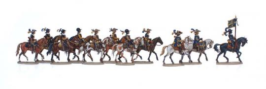 Cuirassiers on march