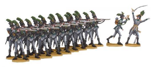 Jäger zu Fuß im Gefecht -schießend-
