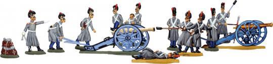 Bayerische Artillerie im Mantel
