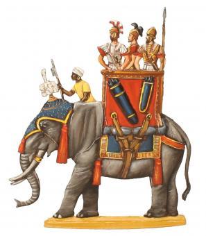Karthagischer Kriegselefant, im Halt